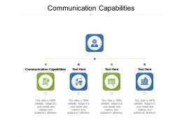 Communication Capabilities Ppt Powerpoint Presentation Infographics Infographics Cpb