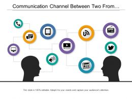 Communication Channel Between Two From Messages Marketing And Newspaper