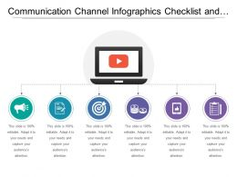 Communication Channel Infographics Checklist And Marketing