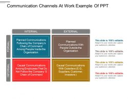 Communication Channels At Work Example Of PPT