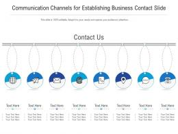 Communication Channels For Establishing Business Contact Slide Infographic Template