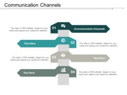 Communication Channels Ppt Powerpoint Presentation Gallery Portrait Cpb