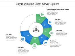 Communication Client Server System Ppt Powerpoint Presentation Inspiration Icon Cpb