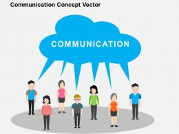Communication Concept Vector Flat Powerpoint Design