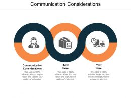 Communication Considerations Ppt Powerpoint Presentation File Structure Cpb