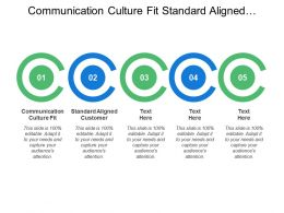Communication Culture Fit Standard Aligned Customer Vision Strategy