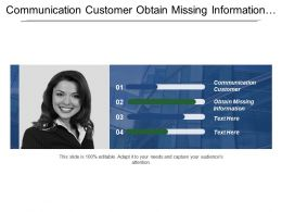 Communication Customer Obtain Missing Information Ensure Quality Engineering Process