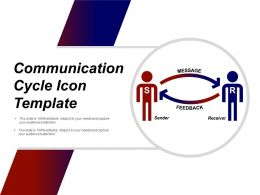 Communication Cycle Icon Template Powerpoint Ideas