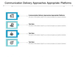Communication Delivery Approaches Appropriate Platforms Ppt Powerpoint Presentation Summary Background Images Cpb
