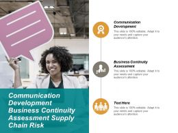 Communication Development Business Continuity Assessment Supply Chain Risk Cpb