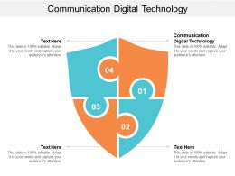 Communication Digital Technology Ppt Powerpoint Presentation Icon Show Cpb