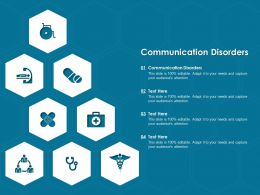 Communication Disorders Ppt Powerpoint Presentation Model Professional