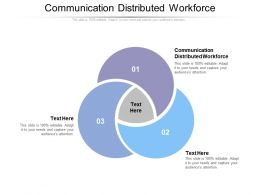 Communication Distributed Workforce Ppt Powerpoint Presentation Deck Cpb