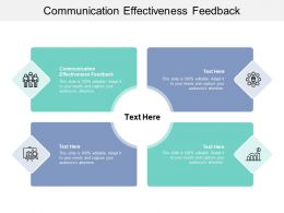 Communication Effectiveness Feedback Ppt Powerpoint Presentation Styles Example Cpb