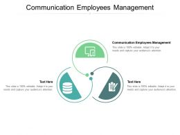 Communication Employees Management Ppt Powerpoint Presentation Ideas Example Cpb