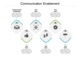 Communication Enablement Ppt Powerpoint Presentation Styles Guidelines Cpb
