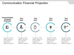 Communication Financial Projection Ppt Powerpoint Presentation Gallery Design Inspiration Cpb