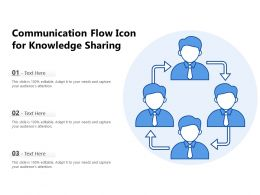 Communication Flow Icon For Knowledge Sharing