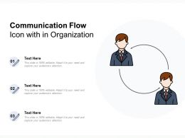 Communication Flow Icon With In Organization