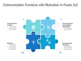 Communication Functions With Motivation In Puzzle 2x2