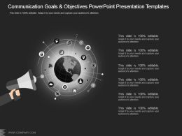 Communication Goals And Objectives Powerpoint Presentation Templates