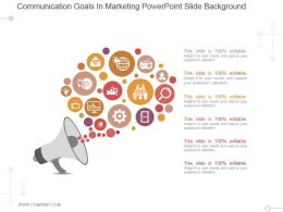 Communication Goals In Marketing Powerpoint Slide Background