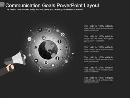 Communication Goals Powerpoint Layout