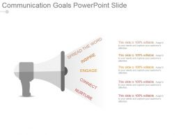 Communication Goals Powerpoint Slide