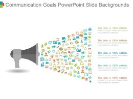 Communication Goals Powerpoint Slide Backgrounds