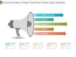 Communication Goals Powerpoint Slide Deck Samples