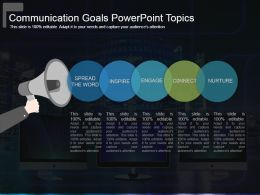 Communication Goals Powerpoint Topics