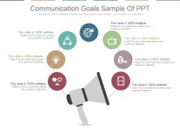Communication Goals Sample Of Ppt