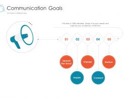 Communication Goals Slide Online Marketing Tactics And Technological Orientation Ppt Microsoft