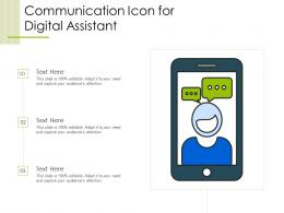 Communication Icon For Digital Assistant