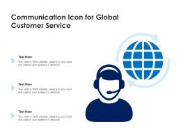 Communication Icon For Global Customer Service
