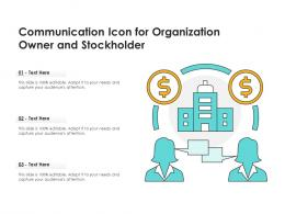 Communication Icon For Organization Owner And Stockholder