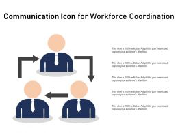 Communication Icon For Workforce Coordination