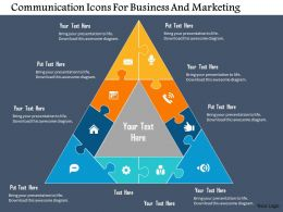 Communication Icons For Business And Marketing Flat Powerpoint Design