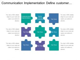 Communication Implementation Define Customer Connection Define Revenue Targets