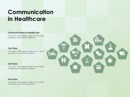 Communication In Healthcare Ppt Powerpoint Presentation Infographics Graphic Tips