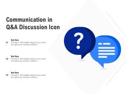 Communication In Q And A Discussion Icon
