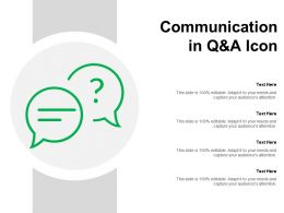 Communication In Q And A Icon