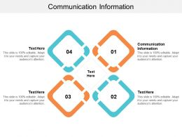 Communication Information Ppt Powerpoint Presentation Icon Template Cpb