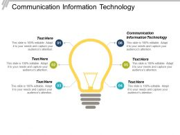 Communication Information Technology Ppt Powerpoint Presentation Infographic Template Ideas Cpb
