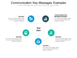 Communication Key Messages Examples Ppt Powerpoint Presentation Pictures Example Introduction Cpb