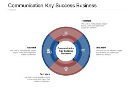 Communication Key Success Business Ppt Powerpoint Presentation Ideas Example File Cpb