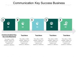 Communication Key Success Business Ppt Powerpoint Presentation Slides Microsoft Cpb