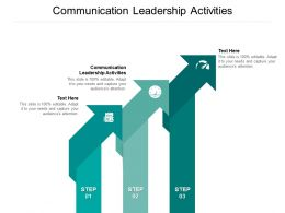Communication Leadership Activities Ppt Powerpoint Presentation Layouts Example Cpb
