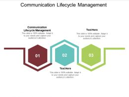 Communication Lifecycle Management Ppt Powerpoint Presentation Professional Design Cpb