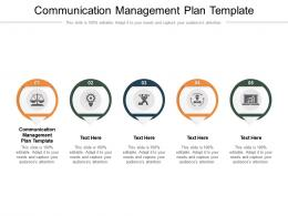 Communication Management Plan Template Ppt Powerpoint Presentation Background Image Cpb